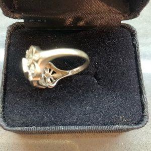 Jewelry - Diamond 💎 Royal Statement Ring Size 7 Antique